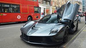 gold ferrari laferrari gordon ramsay driving his ferrari laferrari in london youtube