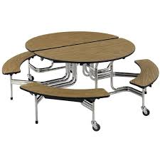 Bench Seat Height - round mobile bench cafeteria table 17
