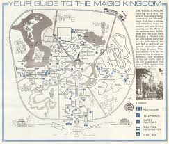 Disney World Magic Kingdom Map Passport To Dreams Old U0026 New The First Decade In Maps