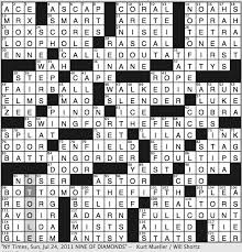 Opulence Crossword Clue Rex Parker Does The Nyt Crossword Puzzle July 2011