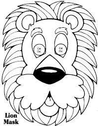 lion mask printable page lion mask