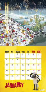 sheep home decor official shaun the sheep 2014 calendar 9781780543475 amazon com