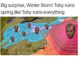 big surprise winter storm toby ruins spring like toby ruins