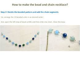 make beaded chain necklace images 3 easy steps of making a chic bead and chain fringe necklace jpg