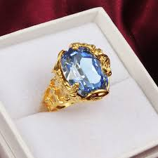 blue fashion rings images Blue cubic zircon ring for women at buyitgreat jewelry store jpg