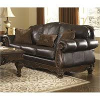 signature design by ashley madeline sofa ashley north shore 3 piece leather sofa set with chaise in dark