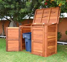 awesome western red cedar trash and recycling enclosure with wood