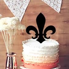 fleur de lis cake topper 2018 special cake topper fleur de lis cake topper new orleans