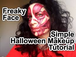 halloween makeup tutorial freaky face muscles under skin youtube