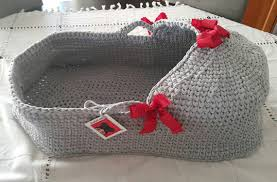baby moses basket baby bassinet crocheted moses basket