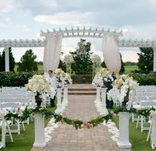 simply stunning wedding ceremony floral by atmospheres at the
