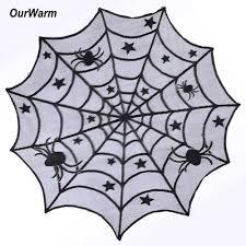 Spider Web Halloween Decoration Aliexpress Com Buy Ourwarm Halloween Party Decoration Spiderweb
