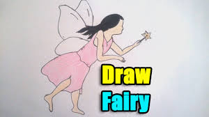 how to draw fairy step by step youtube