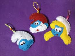 smurf ornaments holidays