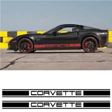 corvette racing stickers car side racing decals set