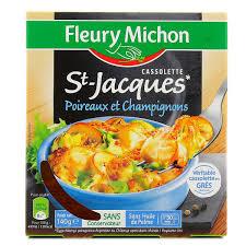 plat cuisiné fleury michon fleury michon cassolette de st jacques 140g houra fr