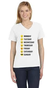Cute Halloween Shirts For Women by Weekly Emoji For Teens College Funny V Neck Women T Shirt