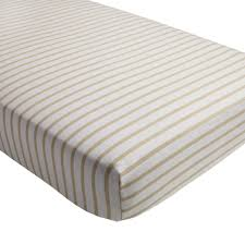 organic noir stripe crib sheet the land of nod