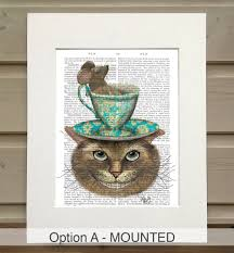 cheshire cat alice in wonderland print by fabfunky home decor
