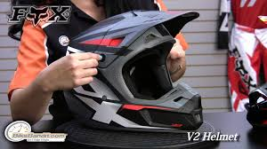 fox helmets motocross fox v2 helmet 2014 at bikebandit com youtube