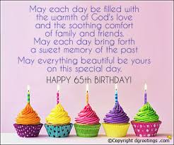 may each day be filled 65th birthday cards