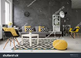 Gray Living Room Lamps Spacious Grey Living Room Sofa Chairs Stock Photo 398322919
