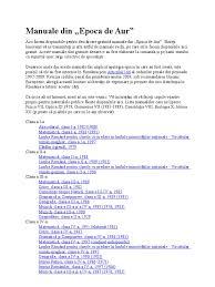 lista manuale din epoca de aur