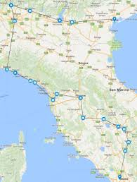 Italy Road Map by Italian Beauty Driving Tour Italy Road Trip Itinerary