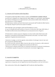 sede presidente della repubblica italiana il presidente della repubblica appunti di diritto pubblico docsity