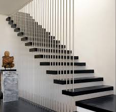 designs ideas minimalist home with black floating stair and