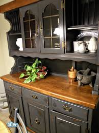 Black China Cabinet Hutch by Best 25 Hutch Makeover Ideas On Pinterest Painted Hutch