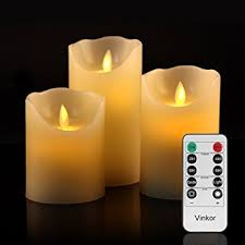 vinkor flameless candles battery operated candles led