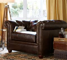 Pottery Barn Leather Couches Living Room Pottery Barnrfield Sofa Linen Leather Sofapottery