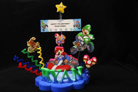 mario cake toppers mario kart cake topper centerpiece adianezh on artfire