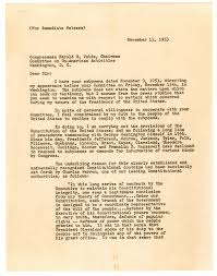 a tale of one house truman refuses subpoena by house un american affairs committee u2014a
