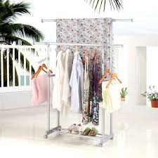 aliexpress com buy finether adjustable rolling garment rack