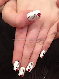 one direction freehand nail art over acrylic nails i would get
