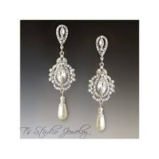 and pearl chandelier 55 pearl chandelier bridal earrings marquise and pearl