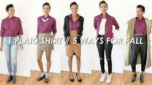 5 ways to wear it plaid shirt for fall style me grasie youtube