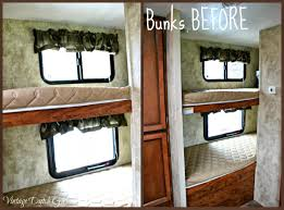 Curtains For Bunk Bed Vintage Dutch Girl Travel Trailer Makeover Part 9 Bunk Beds And