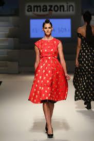 western wear u2013 dress u2013 ashish n soni u2013 crimson red knee length