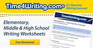 free writing worksheets time4writing