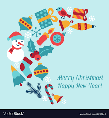 new year invitation card merry christmas and happy new year invitation card