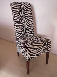 Zebra Dining Chairs 4 Zebra Print Dining Chairs Set Kitchen Restaurant Animal Print