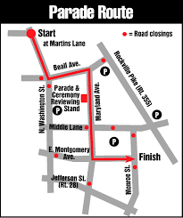 Map Route Maker by Rockville Md Official Website Parade Route Map
