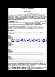 ontario last will and testament form doc pdf free u2014 3 pages