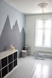 Kids Bedroom Wall Paintings Gray Mountains Triangle Basket And Laundry Basket Www