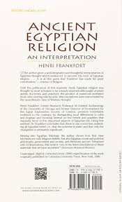 ancient egyptian religion an interpretation henri frankfort