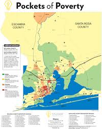 Pensacola Florida Map by Pockets Of Poverty Studer Community Institute