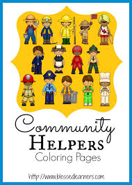 community helper coloring pages blessed learners